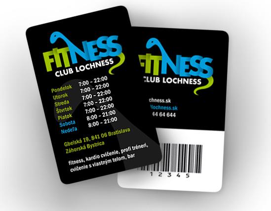 Fitness Club Lochness - klubová karta